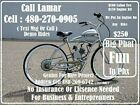 Motorized Bicycles For Sale By Lamar for Business  Entrepreneurs