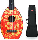 Magic Fluke Co Flea Designer Concert Aloha Ukulele w Gig Bag