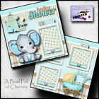 BABY SHOWER BOY 2 Premade Scrapbook Pages paper printed layout for album CHERRY
