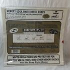 Pioneer RMB-5 12x12 White Memory Book Refill Pages fits TM-12, MB-10, FTM-12