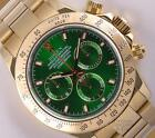 Rolex Daytona 116528 18k Yellow Gold-New Style Green Dial-18k Gold bezel-2Y WTY