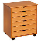 Adeptus 6-drawer Sturdy Rolling Craft And Hobby Storage Sewing Cabinet