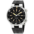 Oris Divers Black Dial Silicone Strap Men's Watch 74376098454RS
