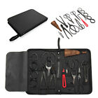 Bonsai Tool Set Carbon Steel 10 Pcs Kit Cutter Scissors Shears Tree Nylon Case