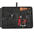 Bonsai Tool Set Carbon Steel 14Pcs Kit Cutter Scissors Shears Tree Nylon Case