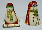 Debbi Mumm's North Country Snowman Salt and Pepper Shaker Set