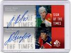 00 01 SP Authentic Sign of Times PAVEL BURE & NOVOSELTSEV Panthers Dual Auto #BN