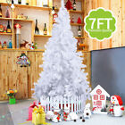 Deluxe Christmas Trees White 7ft Artificial with Metal Stand Xmas Decor New