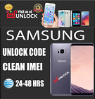 PREMIUM SPEED Factory Unlock Code by IMEI ATT SAMSUNG GALAXY S8 S7 all Models