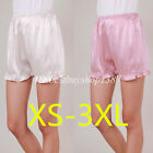 Women Anti Static Slip Pettipants Loose Satin Bloomers Panties Plus size