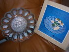 Indiana 2410 Crystal Glass Egg Relish Serving Tray Plate Dish 11