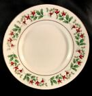 GIBSON CHRISTMAS CHARM CHINA SAUCER/BREAD & BUTTER DISCONTINUED HOLLY & BERRIES