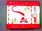 Fitz and Floyd Mingle, Jingle, Be Merry Snack with Spreader. 2006. NEW.
