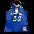 100% Authentic Shaquille O'Neal Mitchell Ness Magic Blue Jersey 48 XL - p