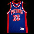 100% Authentic Grant Hill Champion Pistons Blue NBA Jersey Size 40 M S