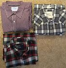 mens american eagle outfitters vintage flannel plaid shirts large