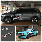 2Pcs 59Full Size Shark Mouth Tooth Teeth Sticker Vinyl Car SUV Side Door Decal