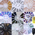 3D Nail Art Rhinestones Decoration Wheel Glitters Beads Manicure Studs Decor
