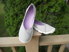 NWOT CROCS Womens Flats Duet Busy Day Slip On Athletic Gray White SIZE 8