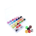 Valar Dohaeris 36 Pcs Assorted Colors Sewing Thread Bobbins with Case for Broth