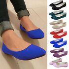 Women Slip on Ballerina Ballet Pump Flats Loafers Shoes Faux Leather Casual Shoe