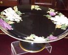 Fitz & Floyd CLOISONNE PEONY BLACK - ROUND COMPOTE - exc cond