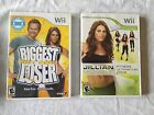 NINTENDO WII BIGGEST LOSER  JILLIAN MICHAELS GAMES CASES BOOKS WITH BOTH