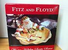 FITZ AND FLOYD WINTER HOLIDAY Figurine Christmas Santa Server NEW IN BOX