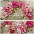 7 LARGE Paper flowers wall decor