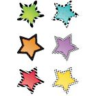 Bold  Bright Stars 6 Designer Cut Outs by Creative Teaching Press
