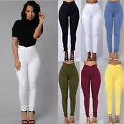 Women's  Sexy Solid High Waist Denim Skinny Stretch Jeans Pencil Trousers Pants