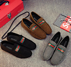 New Mens Minimalism Driving Loafers Suede Leather Moccasins Slip on penny shoes