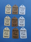 20 personalized Bridal or Baby Shower favor tags Thank you for coming w name