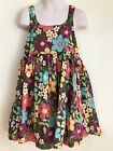 Gymboree Jungle Gem Brown With Teal Pink Flowers Girls Dress Size 4t