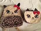 Girls adorable Gymboree Cheetah Kitty Backpack Lunchbox set NWT