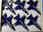 Set of 6 65 X Planes US Navy F 18 Hornet Blue Angel Jet Diecast Toy Authentic