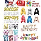 16 30 Large Foil Letter Number Balloons Birthday Wedding Party + Free Balloons
