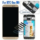 For HTC One M9 Gold LCD Display Touch Screen Digitizer Full Assembly Replacement