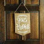 Thanksgiving Give Thanks Door Flag