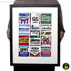 Vintage Cycling Jersey Details Print Poster Brooklyn Bianchi Sanson Raleigh