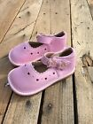 New Girls Toddler Squeaky Shoes Pink with Hearts size 9