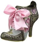 Irregular Choice Abigails Third Party Gold Pink Womens Boots