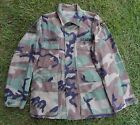 US ARMY Issue Woodland Camo Shirt Coat SMALL Regular 3rd Armored Division