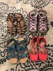 Girls Shoe Sandal Lot Youth Sizes 13 And 1