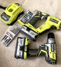 Ryobi 18v sds drill & Brushless Drill 2 Times 18v4Ah Battery/Character/Acessory