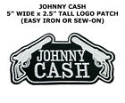 new Johnny Cash Patch Embroidered Sew Iron On Singer Songwriter Music Logo DIY