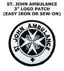 St John Ambulance Logo Embroidered Patch NEW UNUSED As Seen On Doctor Who