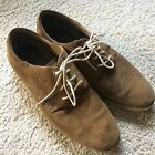 Mens Sperry Top Sider Tan Suede Oxford Shoes Size 11M