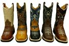 Youth Boys Cowboy Western Rodeo Genuine Leather Boots Square Toe Best Quality