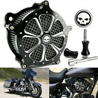 CNC Cut Air Cleaner Intake Filter For Harley Street Electra Glide FLH FXST 93 07